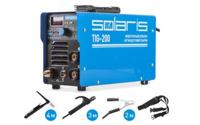 Аппарат аргонодуговой сварки SOLARIS TIG-200 + AK (TIG-MMA)