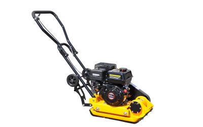 Виброплита С60 (Loncin 163cc, бак, колеса, мат)